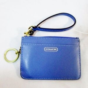 COACH Mini Wristlet Wallet ID Holder Keychain
